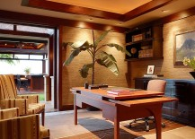 workspace with a relaxed yet beautiful modern ambiance natural materials give the home office beautiful relaxing home office
