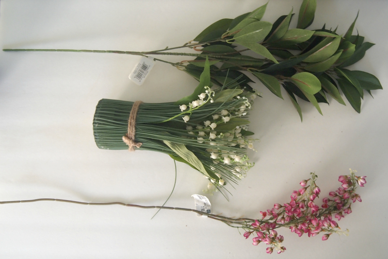 Materials for Spring centerpiece