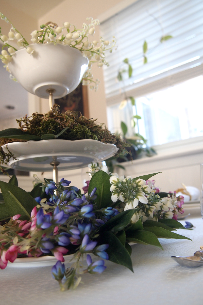 View from below on Spring centerpiece
