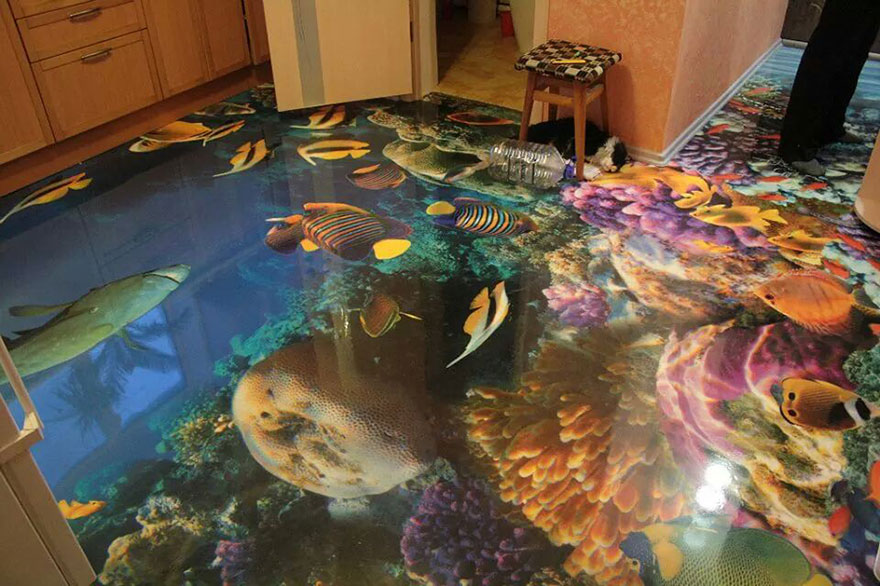 3d floors tropical fish