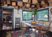 A world of baskets in the dining room!