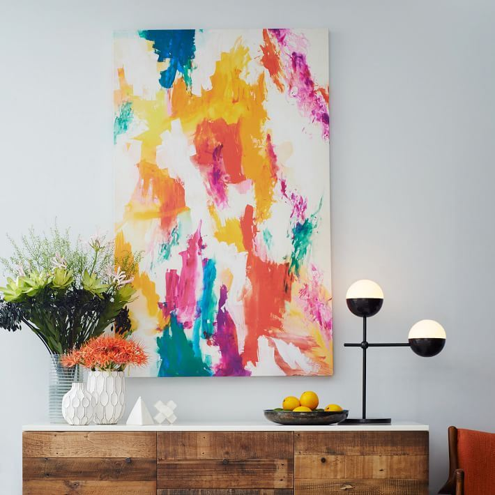 Abstract wall art from West Elm