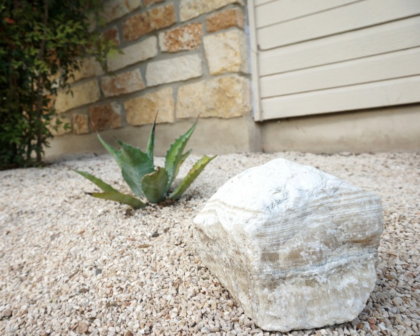 Add new rocks to the garden