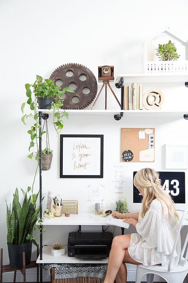 Add some greenery to your home office [From: Amber Thrane of Dulcet Creative]