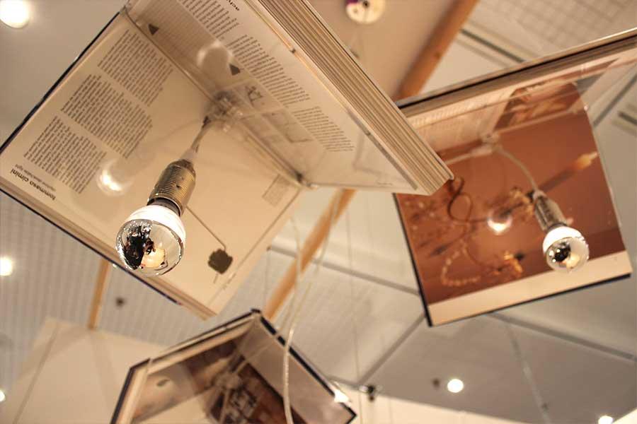 Ali Siavoshi Lamps Made of Books