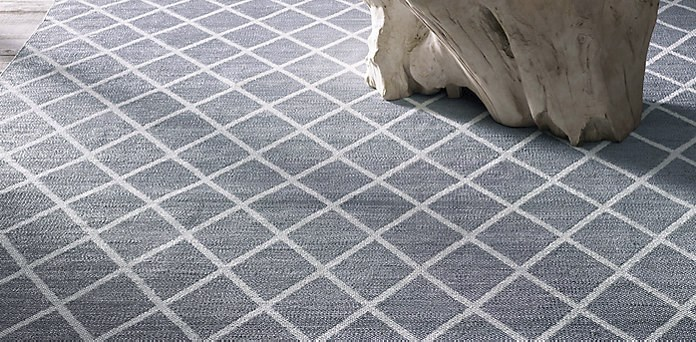 All-weather diamond rug from Restoration Hardware
