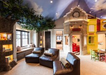 Amazing-kids-room-design-with-treetrunk-shelves-and-painted-ceiling-217x155