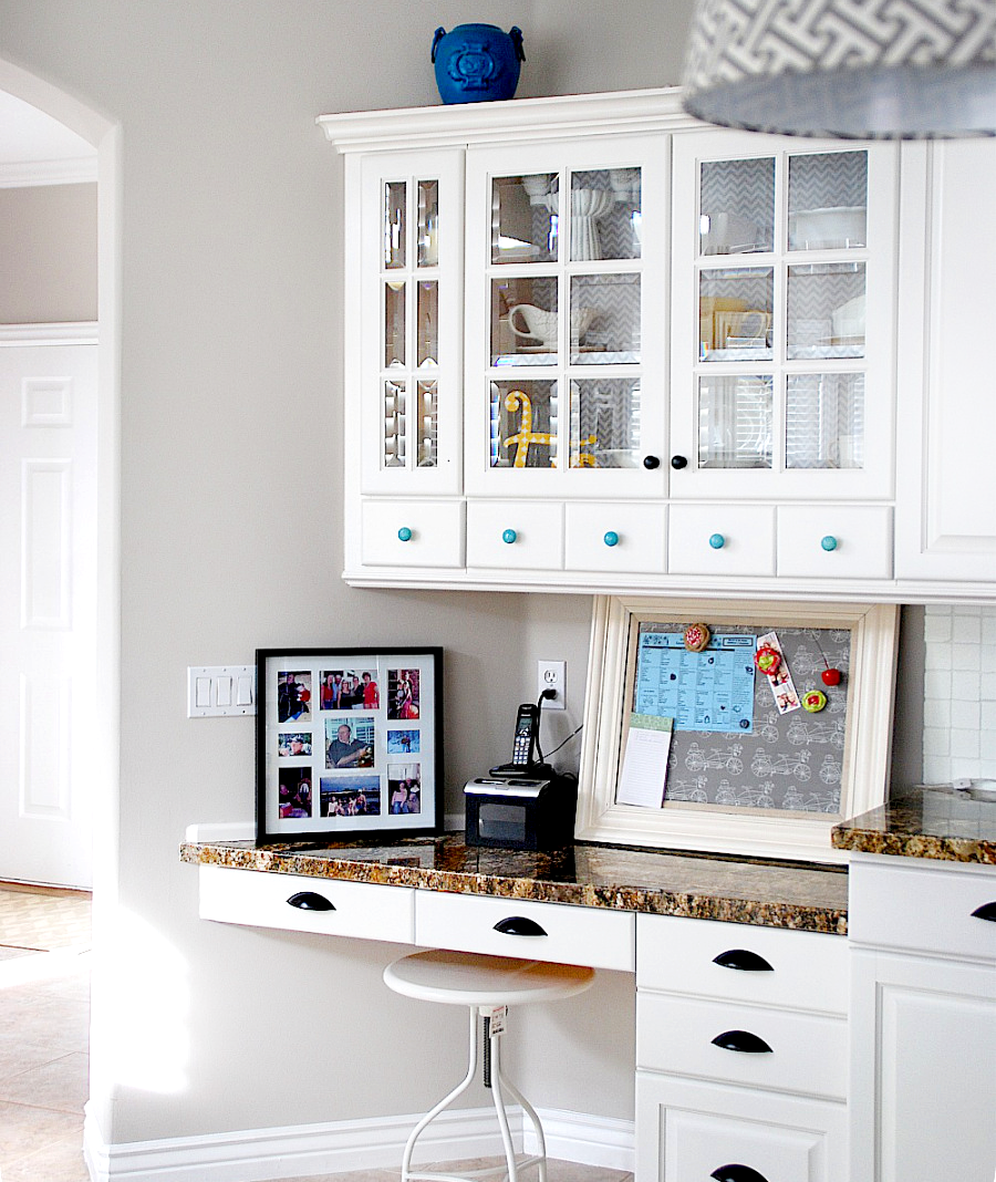 View In Gallery Aqua And White Kitchen Makeover