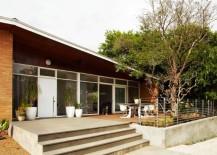 Asymmetrical front entrance