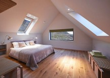 Attic bedroom with ample natural ventilation