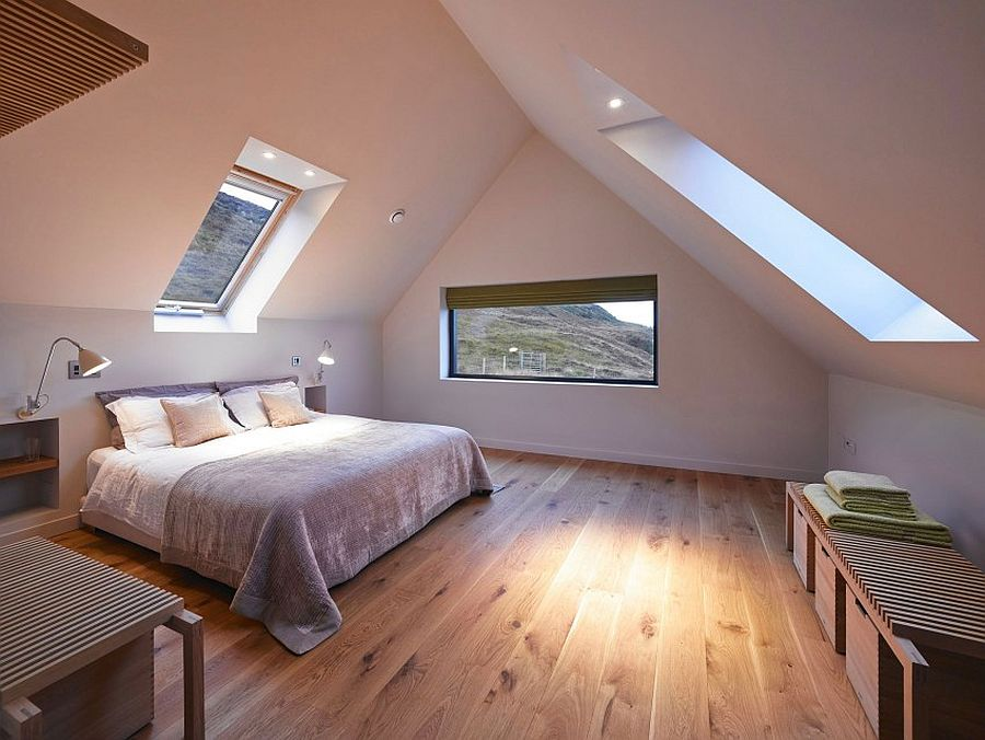 attic bedroom with ample natural ventilation decoist