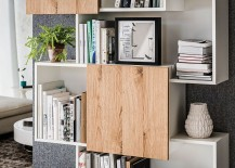 Beautiful contemporary bookshelf Piquant with warmth of wood