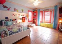 Beautiful kids' bedroom with plenty of color