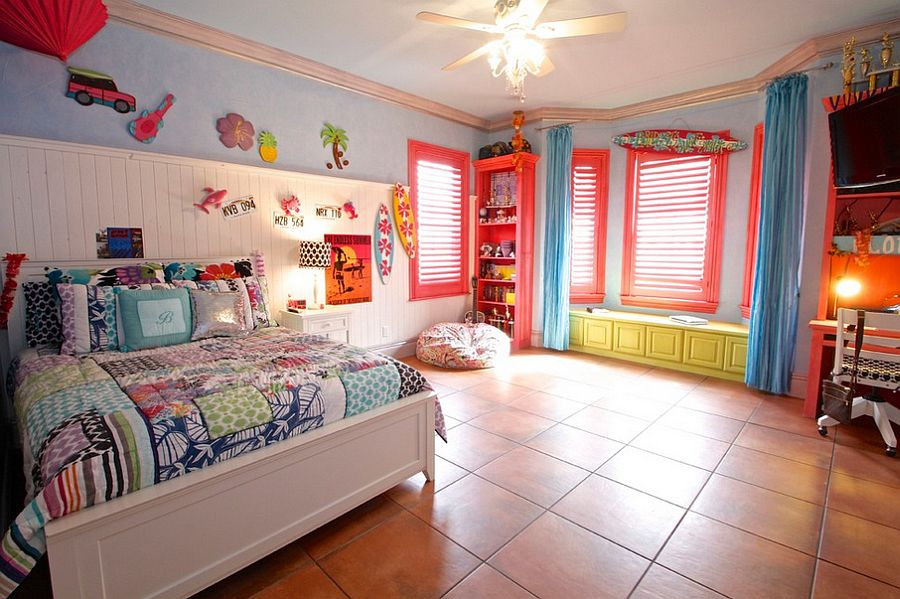 Beautiful kids' bedroom with plenty of color [Design: McReynolds Designs]