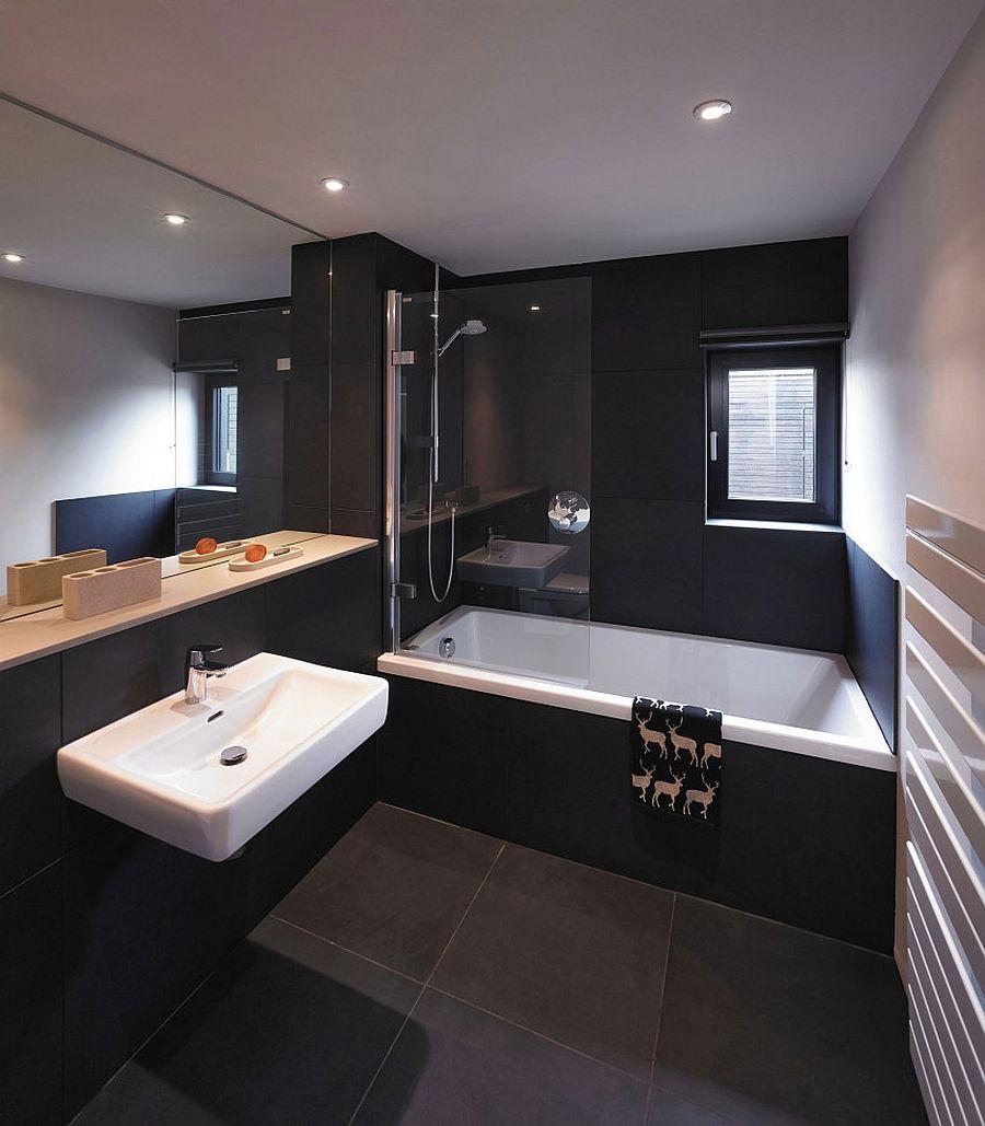 Black bathroom idea for the modern home
