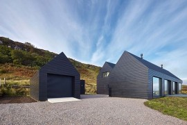 Dashing Dark Exterior Shapes Striking Contemporary Home in Isle of Skye