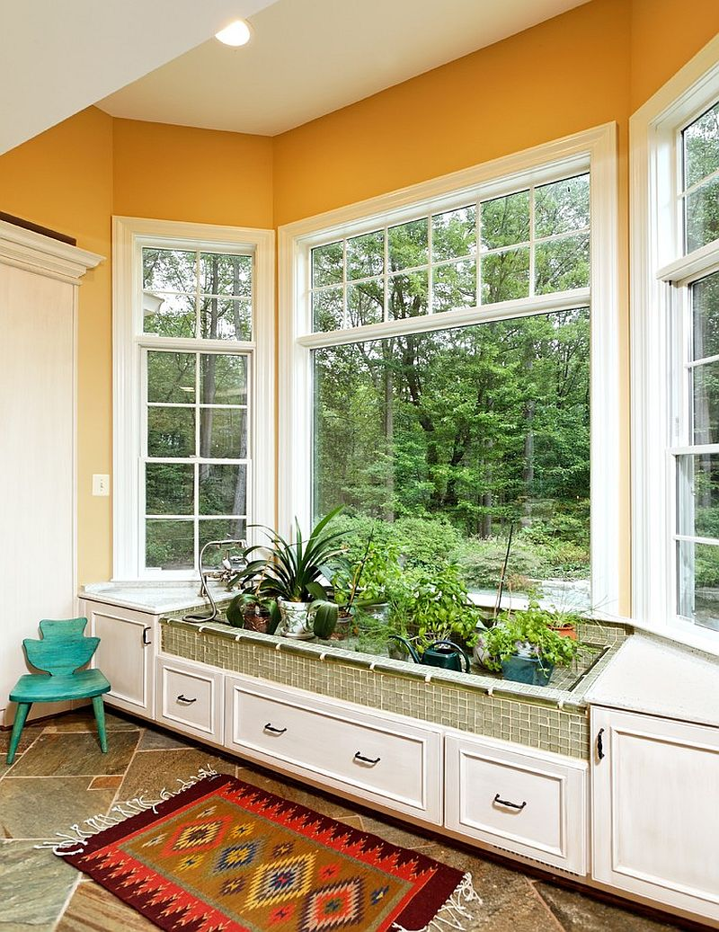 Kitchen window for plants -  Blend Some Of Your Favorite Plants With Kitchen Herbs Design Tabor Design Build
