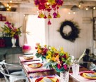 Boho Chic bridal shower with colorful details