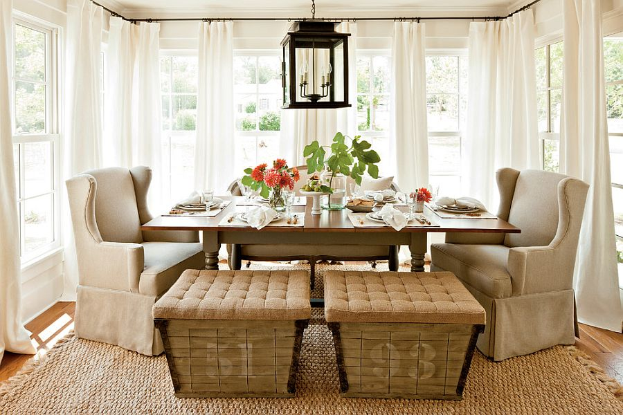 30 unassumingly chic farmhouse style dining room ideas for Breakfast room ideas