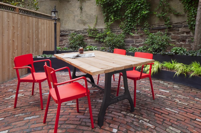 Brooklyn Heights patio with abundant plants Create Your Own Urban Oasis with Plants