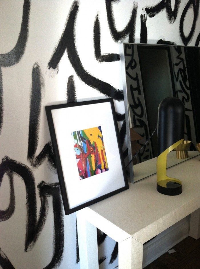 Brushstroke accent wall from Sketch42