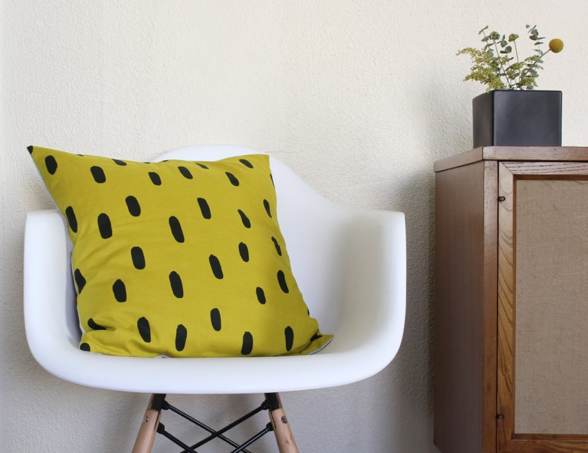 Brushstroke pillow from Cotton & Flax