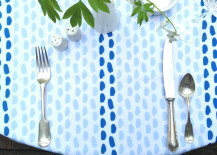 Brushstroke tablecloth from Etsy shop Nadine Westcott Fabric