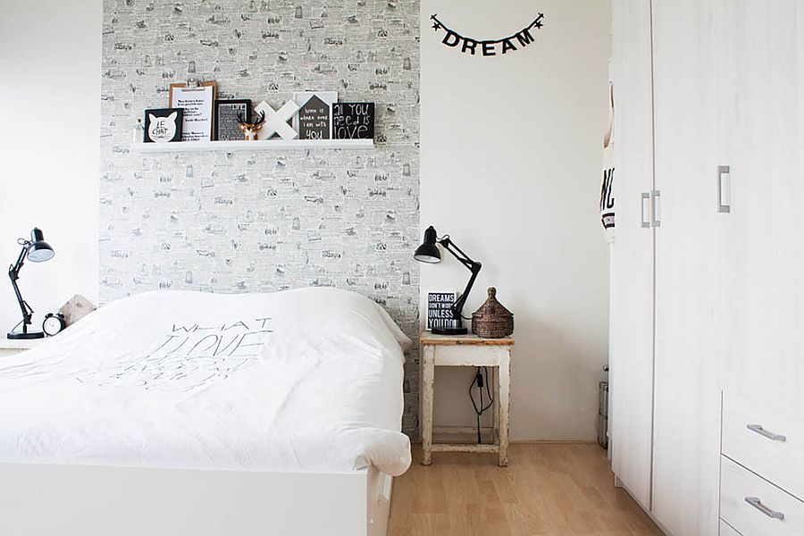 Budget Scandinavian style decorating idea  From  Louise de Miranda. 36 Rela and Chic Scandinavian Bedroom Designs