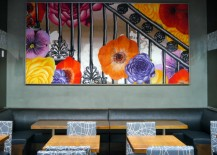 Cambria Lobby Dining Area 217x155 NYCs Brand New Cambria Hotel is a Modern, Floral Delight