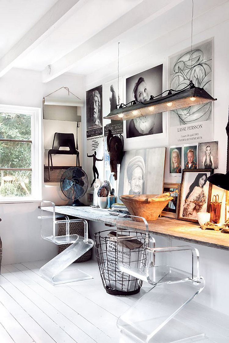 Captivating home office design with Nordic and rustic styles [Design: Marie Olsson Nylander]