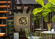 Caviar Warehouse Loft with Stunning Rooftop Garden Green Chairs 217x155 8 Ravishing Rooftop Retreats with Elevated Style