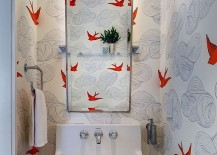 Charming small powder room decorating idea 217x155 How to Design a Picture Perfect Powder Room