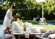 Chic outdoor dining table from Athena Calderone