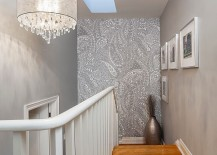 Chic-wallpaper-in-gray-with-paisley-pattern-for-the-staircase-wall-217x155