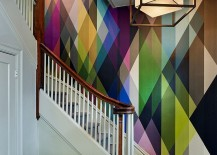 Circus-wall-panel-wallpaper-adds-color-to-the-staircase-design-217x155
