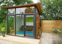 Clean lines define this tiny house