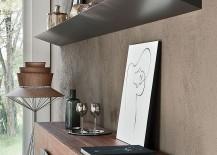 Closer look at the exclusive design of the sleek Pendola Bookshelf