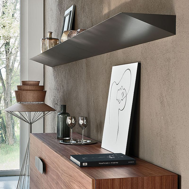 Closer look at the exclusive design of the sleek Pendola Bookshelf