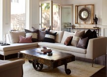 Coffee table brings a touch of vintage charm to the living room