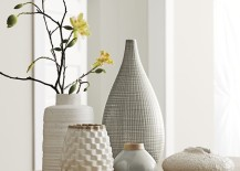 Collection of white vases from Crate & Barrel