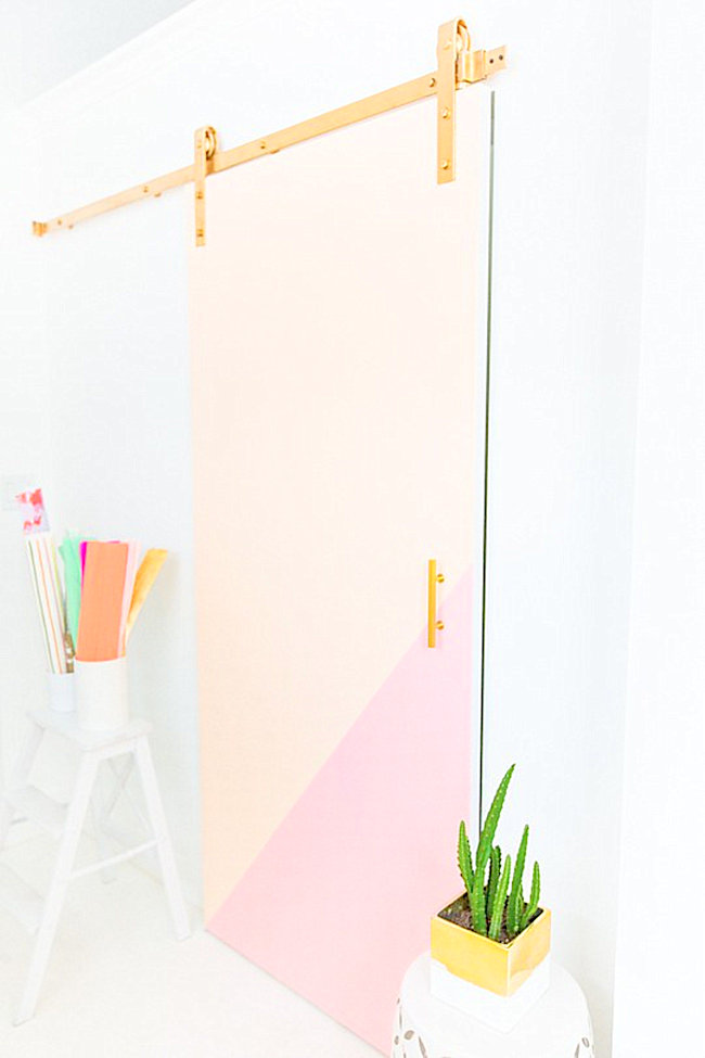 Colorblocked barn door from Sugar & Cloth