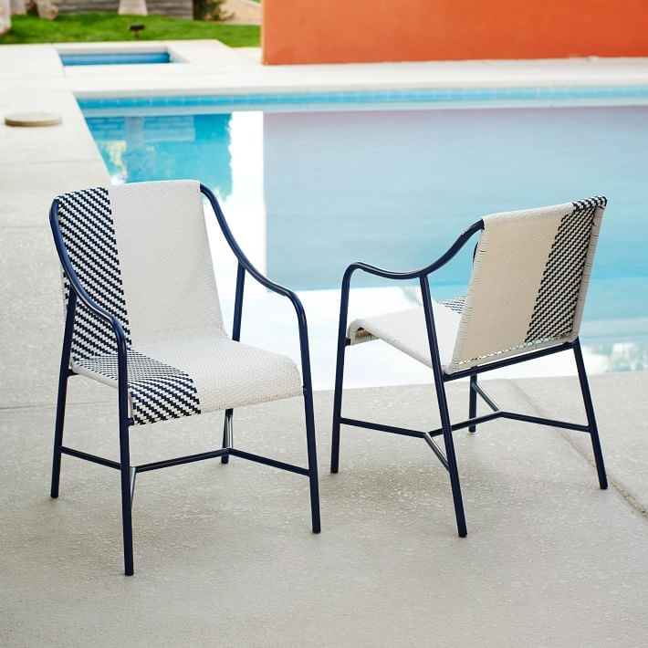 Colorblocked bistro chairs from West Elm