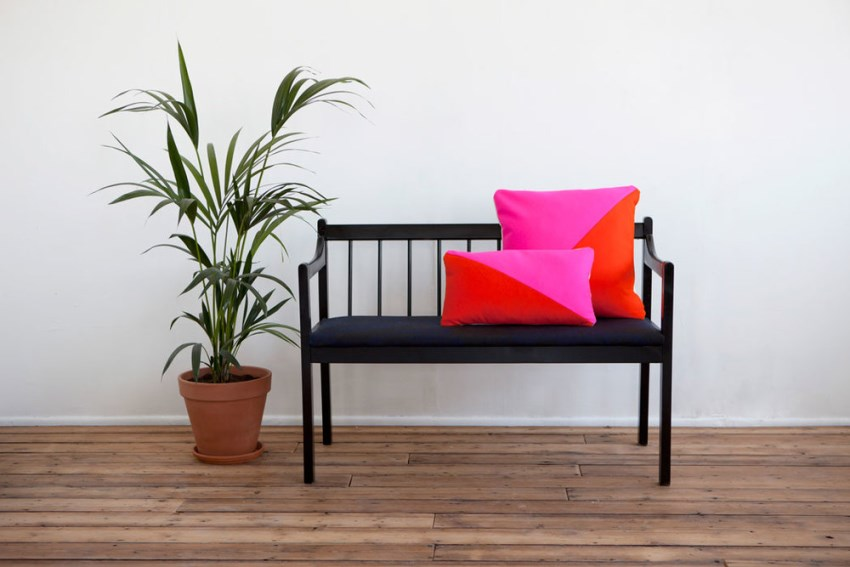 Colorblocked cushions from Room39