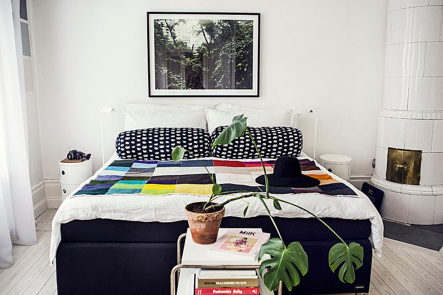 ... Colorful Bedding And A Hint Of Greenery For The Chic Bedroom [From: The  Way