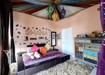 Colorful bohemian style teen bedroom