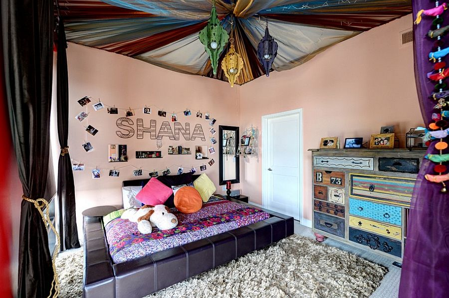 Colorful bohemian style teen bedroom [Design: The Consulting House]