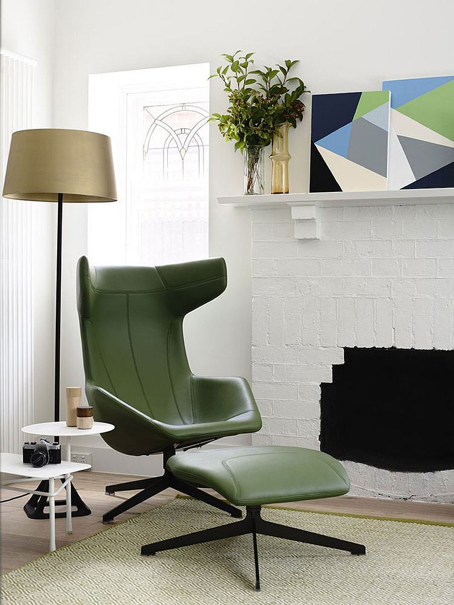 Colorful chair adds elegance to the cool interior
