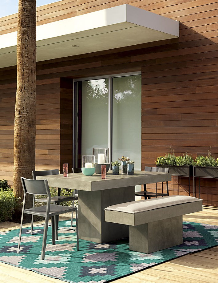 Colorful patterned outdoor rug from CB2