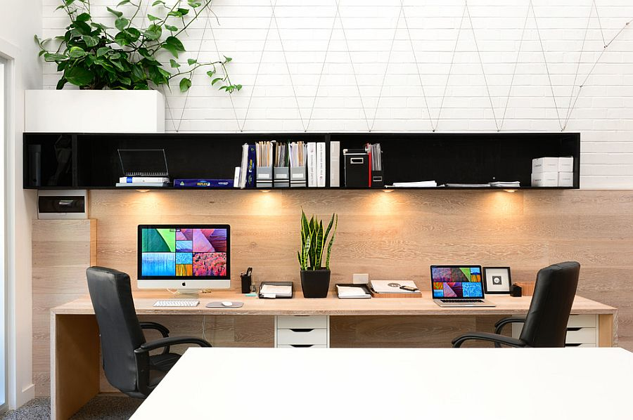 ... Compact Home Office Design Focuses On Functionality [Design: Lime  Building Group]