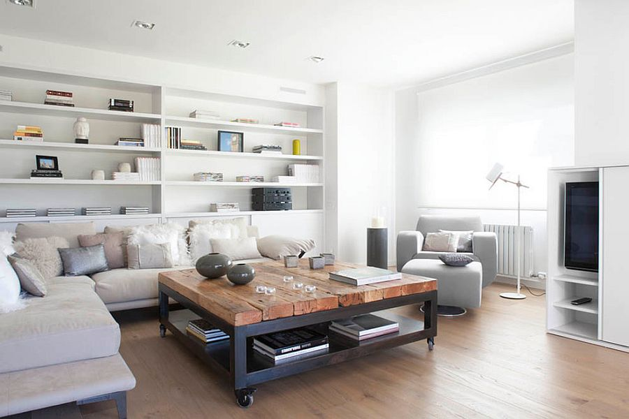 Contemporary living room with neutral color scheme [Design: Susanna Cots]